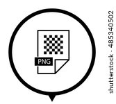 png icon   black vector  icon ... | Shutterstock .eps vector #485340502