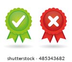 approved and rejected icon | Shutterstock .eps vector #485343682