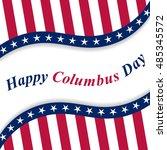 happy columbus day lettering...   Shutterstock .eps vector #485345572
