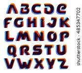 alphabet logos formed by... | Shutterstock .eps vector #485347702