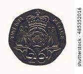 vintage looking twenty pence... | Shutterstock . vector #485352016