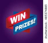 win prizes  arrow tag sign. | Shutterstock .eps vector #485374885