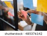 close up shot of hands of woman ... | Shutterstock . vector #485376142