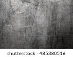 scratched steel background | Shutterstock . vector #485380516