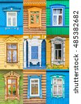 Russian Wooden Windows Collage...