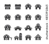 barn line icon set | Shutterstock .eps vector #485391865
