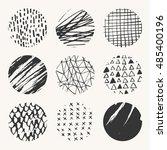 set of nine vector hand drawn...   Shutterstock .eps vector #485400196