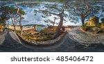 spherical  360 degrees ... | Shutterstock . vector #485406472