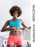african american woman training ... | Shutterstock . vector #485412946