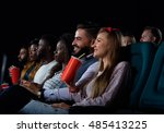 ready to rate a new movie. shot ... | Shutterstock . vector #485413225