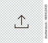 upload icon vector  clip art....