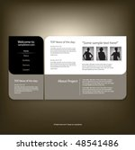 web site design template ... | Shutterstock .eps vector #48541486