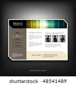 web site design template ... | Shutterstock .eps vector #48541489
