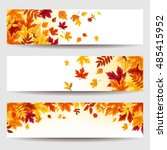 set of three vector banners... | Shutterstock .eps vector #485415952
