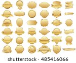 label gold vector icon set on... | Shutterstock .eps vector #485416066