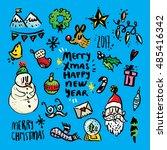 christmas design elements on... | Shutterstock .eps vector #485416342