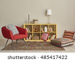 modern interior room with nice... | Shutterstock . vector #485417422