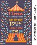 beautiful circus vector poster  ... | Shutterstock .eps vector #485422342
