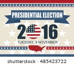 presidential election 2016 8... | Shutterstock .eps vector #485423722