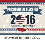 presidential election 2016 8... | Shutterstock .eps vector #485423722