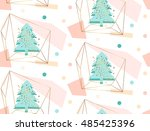 hand drawn vector abstract... | Shutterstock .eps vector #485425396