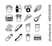 food vector icons and fastfood... | Shutterstock .eps vector #485433838