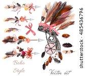bo ho fashion set from vector...   Shutterstock .eps vector #485436796