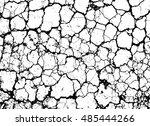 grunge cracked vector texture... | Shutterstock .eps vector #485444266
