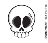 Cartoon Vector Skull. Skull...