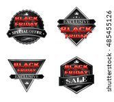 black friday sale badge... | Shutterstock . vector #485455126