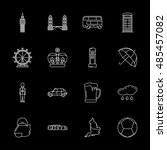 vector kitchen utensil icon set ... | Shutterstock .eps vector #485457082