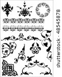 set of beautiful vector design... | Shutterstock .eps vector #48545878