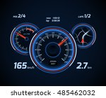 racing car computer and app... | Shutterstock .eps vector #485462032