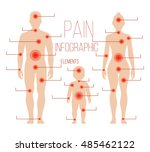 man  woman  child silhouettes... | Shutterstock .eps vector #485462122