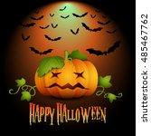 halloween banner  party... | Shutterstock . vector #485467762
