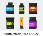 sports nutrition and... | Shutterstock .eps vector #485470222