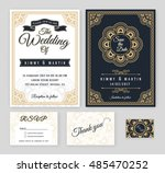 vintage wedding invitation... | Shutterstock .eps vector #485470252