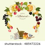 vector fruit and berry cosmetic ... | Shutterstock .eps vector #485472226
