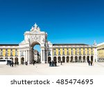 lisbon  portugal.  march 10 ... | Shutterstock . vector #485474695