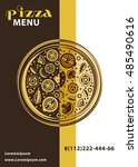 vector cover for pizza menu.... | Shutterstock .eps vector #485490616