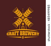 craft brewery vector vintage...   Shutterstock .eps vector #485499985