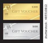elegant gift card or gift...   Shutterstock .eps vector #485510812