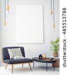 mock up poster with vintage... | Shutterstock . vector #485513788