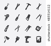 tools vector icon | Shutterstock .eps vector #485514112