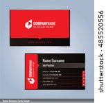 black and red modern business... | Shutterstock .eps vector #485520556