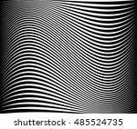 wavy dynamic irregular lines... | Shutterstock . vector #485524735