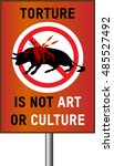 "sign with ""torture is not art... 
