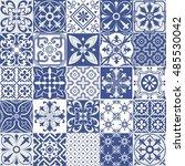 big set of tiles background.... | Shutterstock . vector #485530042