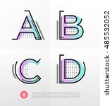 vector graphic alphabet in a... | Shutterstock .eps vector #485532052