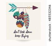 postcard design with... | Shutterstock .eps vector #485532346